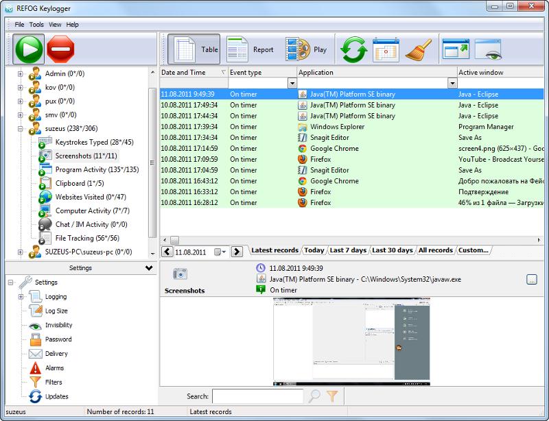 Keystroke software for windows 7.